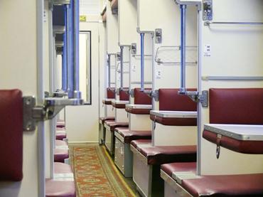 ตัวอย่างเตียงของรถไฟชั้นสาม