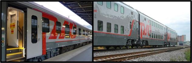 ตู้รถไฟธรรมดา (รถไฟนอน) แบบชั้นเดียวและแบบสองชั้น